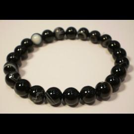 Bracelet agate 8mm