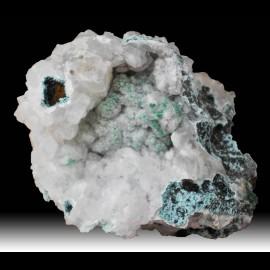 Malachite et quartz