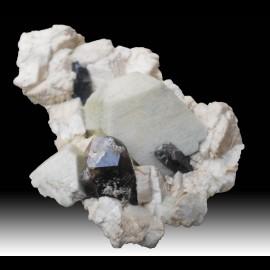 Orthose et quartz fumé