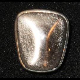 Bague obsidienne argenté
