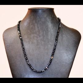 Collier agate 4mm noire