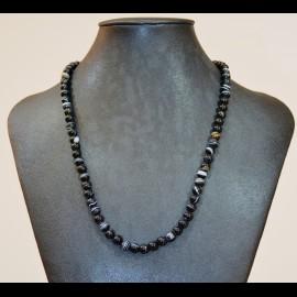 collier agate 6mm noire