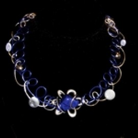 Collier rond lapis lazuli