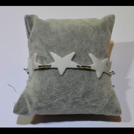 Bracelet ceramique étoile blanche