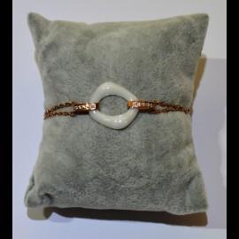 bracelet ceramique blanc ceram38