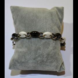 Bracelet ceramique noir et blanc ceram44